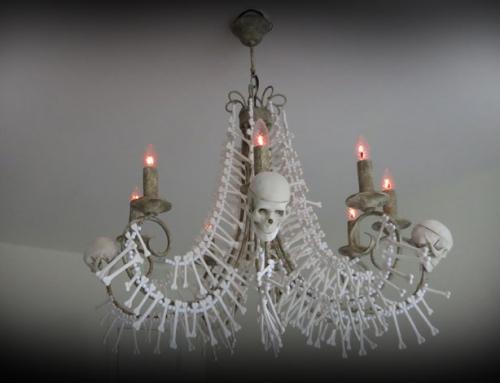 Lampkrona av ben